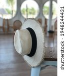 beautiful white panama hat on...   Shutterstock . vector #1948244431