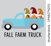 cute autumn gnomes  old truck ... | Shutterstock .eps vector #1948274251