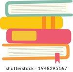 books notebooks reading list... | Shutterstock .eps vector #1948295167