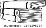 books notebooks reading list... | Shutterstock .eps vector #1948295194