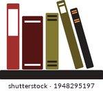 books notebooks reading list... | Shutterstock .eps vector #1948295197
