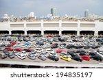 bangkok  mat 25 cars parked at... | Shutterstock . vector #194835197