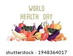 world health day horizontal... | Shutterstock .eps vector #1948364017