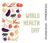 world health day square poster... | Shutterstock .eps vector #1948364161