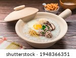 Rice Porridge In Opened White...