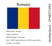 romania national flag  country...   Shutterstock .eps vector #1948371394