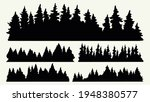 forest silhouettes vintage... | Shutterstock .eps vector #1948380577