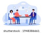 lawyer talking to clients....   Shutterstock .eps vector #1948386661