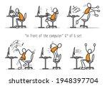 vector set of humor cartoon man ... | Shutterstock .eps vector #1948397704