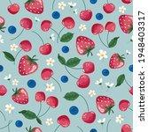 fruits seamless pattern....   Shutterstock .eps vector #1948403317