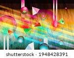 color watercolor retro... | Shutterstock . vector #1948428391