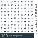 art  design icons vector set