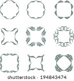 set of abstract vintage frames | Shutterstock .eps vector #194843474