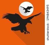 falcon icon | Shutterstock .eps vector #194843495