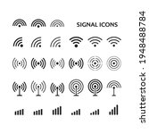 signal icons isolated on white... | Shutterstock .eps vector #1948488784