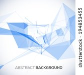 abstract vector geometric... | Shutterstock .eps vector #194853455