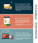 icons for web design  seo... | Shutterstock .eps vector #194855141