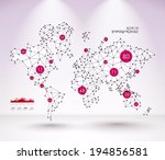 abstract vector polygonal world ... | Shutterstock .eps vector #194856581