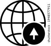 arrow navigator icon vector... | Shutterstock .eps vector #1948577911