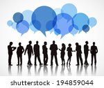 silhouettes of business people... | Shutterstock .eps vector #194859044