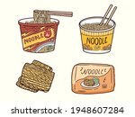 instant noodle cup with... | Shutterstock .eps vector #1948607284