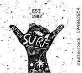 surfing design | Shutterstock .eps vector #194862854