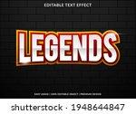 legends text effect template...   Shutterstock .eps vector #1948644847