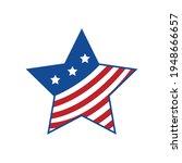 american flag design  star...   Shutterstock .eps vector #1948666657