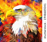 Modern Oil Painting Of Eagle ...