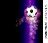 creative soccer design...   Shutterstock . vector #194870171