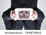 portrait of upside down... | Shutterstock . vector #194870441