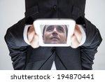 portrait of upside down...   Shutterstock . vector #194870441