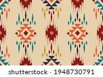 beautiful ethnic abstract ikat...   Shutterstock .eps vector #1948730791