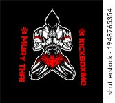 muay thai fighter kickboxing... | Shutterstock .eps vector #1948765354