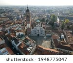 Aerial View Of Facade Of The...