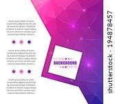 abstract creative concept... | Shutterstock .eps vector #194878457