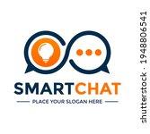 smart chat vector logo template.... | Shutterstock .eps vector #1948806541