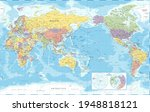 world map   pacific view   asia ... | Shutterstock .eps vector #1948818121