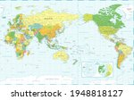 world map   pacific view   asia ... | Shutterstock .eps vector #1948818127