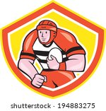 illustration of a rugby player... | Shutterstock . vector #194883275