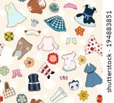 girls clothes seamless pattern | Shutterstock .eps vector #194883851