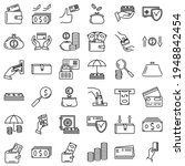 set of vector icons   finance ...