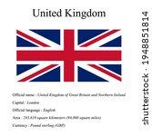 united kingdom national flag ...   Shutterstock .eps vector #1948851814
