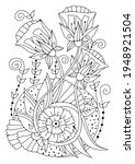 coloring page. illustration for ... | Shutterstock .eps vector #1948921504