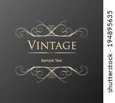 vintage floral frame. element... | Shutterstock .eps vector #194895635