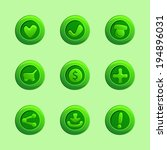 set of green vector elements...