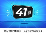 41  off. blue banner with forty ... | Shutterstock .eps vector #1948960981