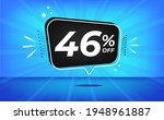 46  off. blue banner with forty ... | Shutterstock .eps vector #1948961887