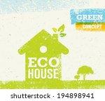 eco house green eco vector... | Shutterstock .eps vector #194898941