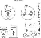 electric motor icon isolated on ...   Shutterstock .eps vector #1949063251